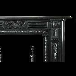 Antique Black Namur Marble Palladian manner Fireplace