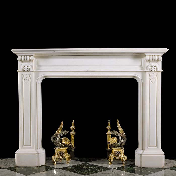 A William IV Statuary Marble Chimneypiece