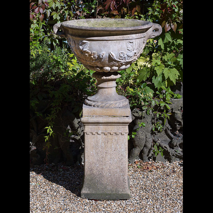 A Reconstituted Stone Classical Garden Urn