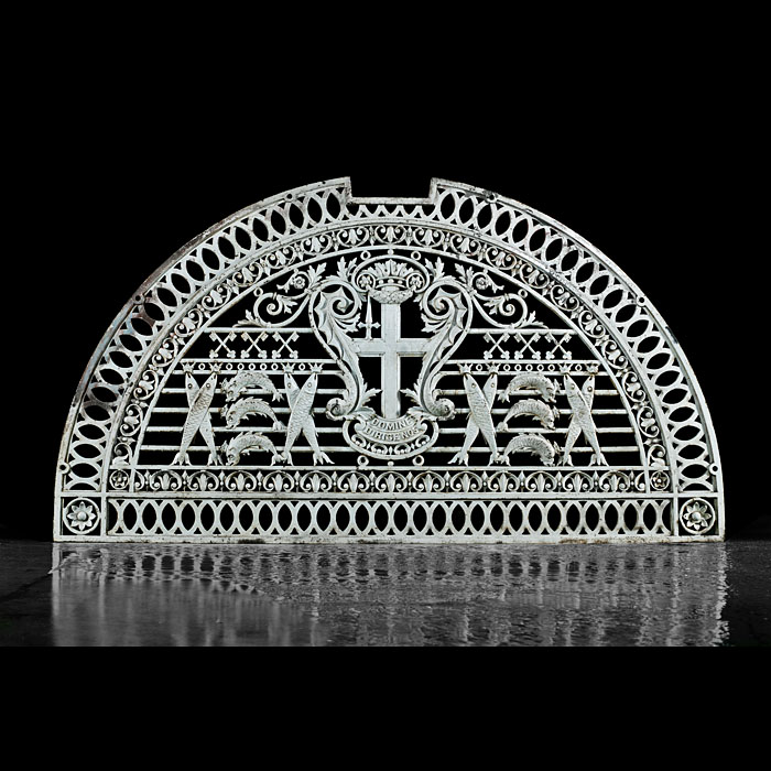 An antique cast iron grill from Billingsgate Fish Market