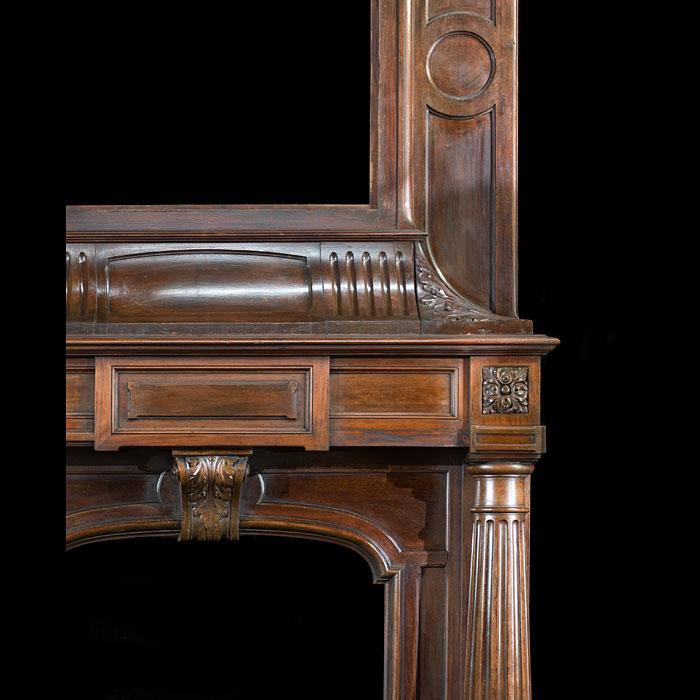 Renaissance Wood Trumeau Antique Fireplace Westland London