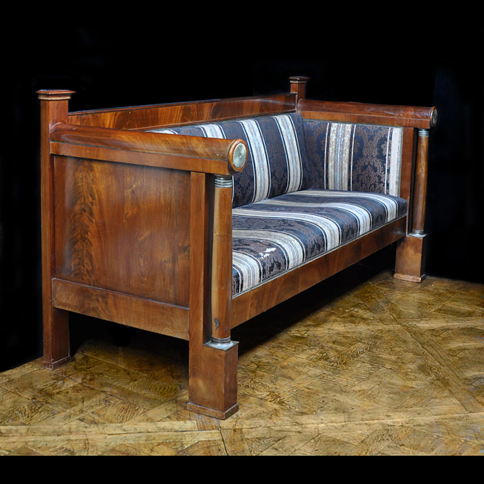A Biedermeir style mahogany veneered sofa canape