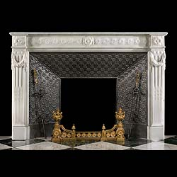 A Statuary Marble French Fireplace Surround