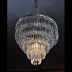 Small antique cut glass chandelier