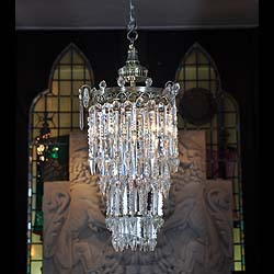 Antique English Regency revival crystal chandelier