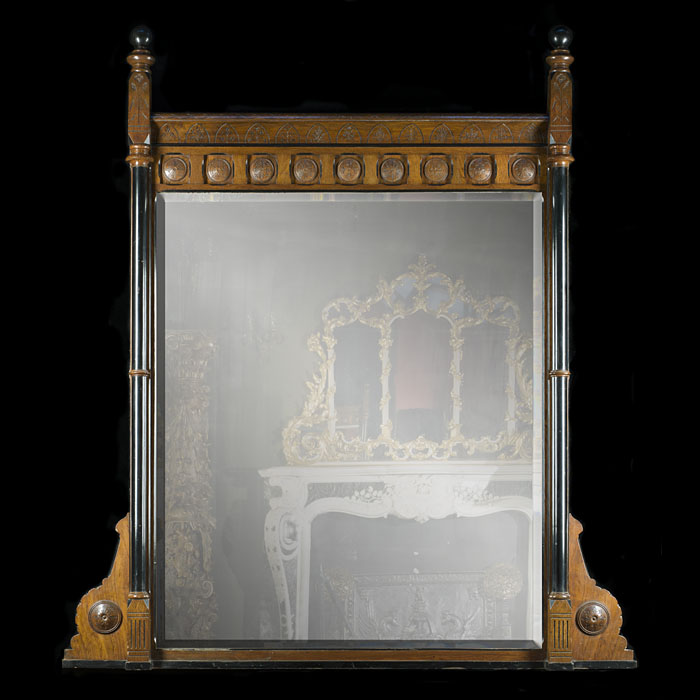 An Aesthetic Movement overmantel mirror