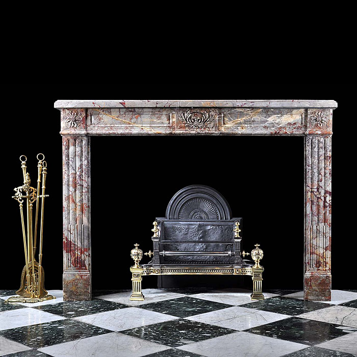 Antique Louis XVI Sarin Colin French Marble Chimneypiece