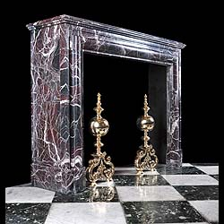 Antique French Baroque manner Campan Marble Bolection Chimneypiece