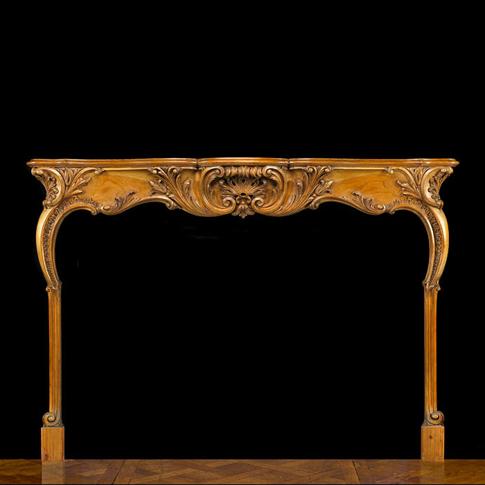 Fine English Rococo Pine Fireplace Surround
