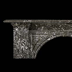An Elegant and Simple Antique Black Veined French Victorian chimneypiece