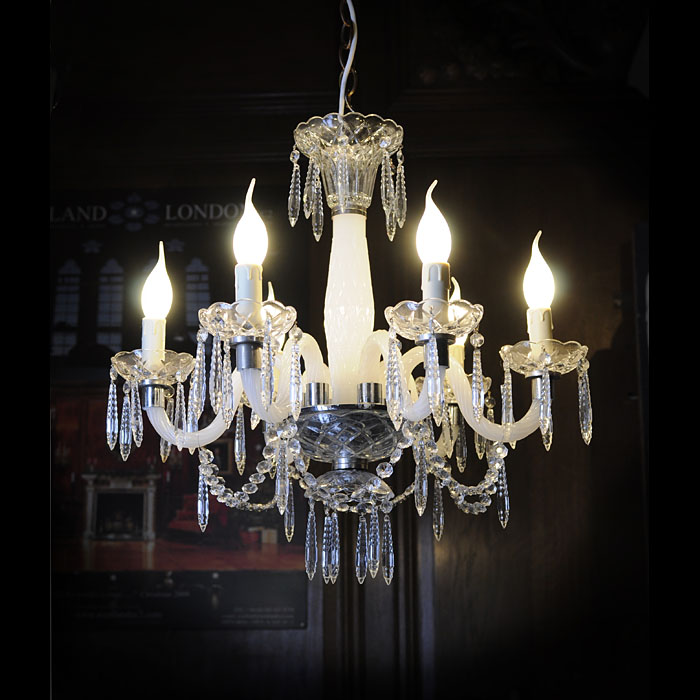 A small 20th century Murano glass chandelier