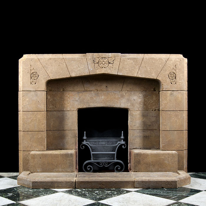 An Art Deco Horton Stone Fireplace Surround