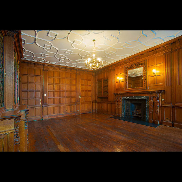 Antique Renaissance style Victorian panelled room