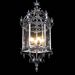 Gothic Revival hexagonal hall lantern
