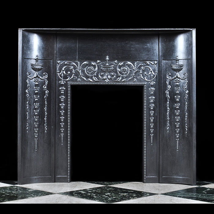 An Antique cast iron Neoclassical style Fireplace Insert