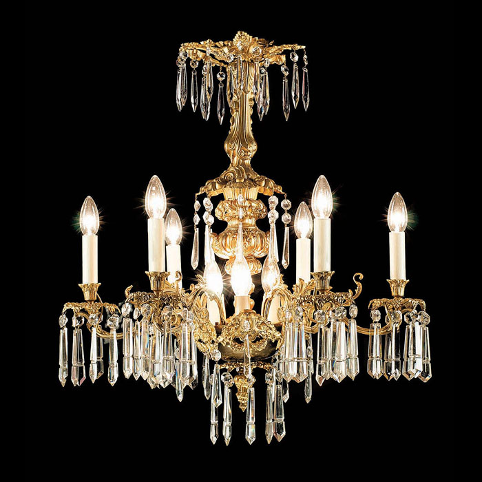 An Italian style gilt bronze Antique chandelier