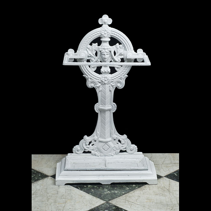 A Painted Cast Iron Victorian Stick Stand