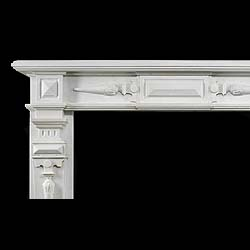 A Large Jacobean style Antique Marble Fireplace Surround