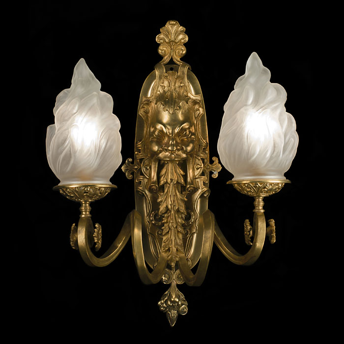 A Baroque Style Flambeau Wall Light