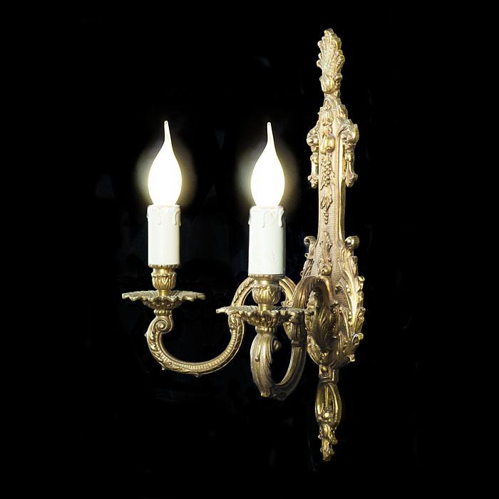 French Régence style set of three bronze wall lights