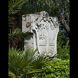 Antique Garden Statuary Portland Stone Plaque