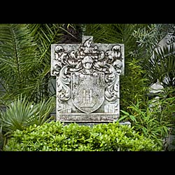 Antique Garden Statuary Portland Stone Plaque  A large and historically significant Portland Stone Plaque, bearing the motto  'Knowledge is Power', from St Thomas' Hospital, London.