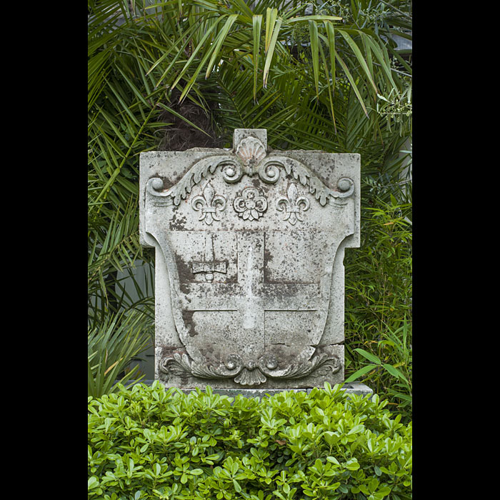 Antique Garden Statuary Portland Stone Plaque.