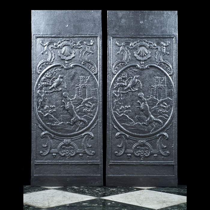 A Pair of Elsley Cast Iron Fireplace Panels