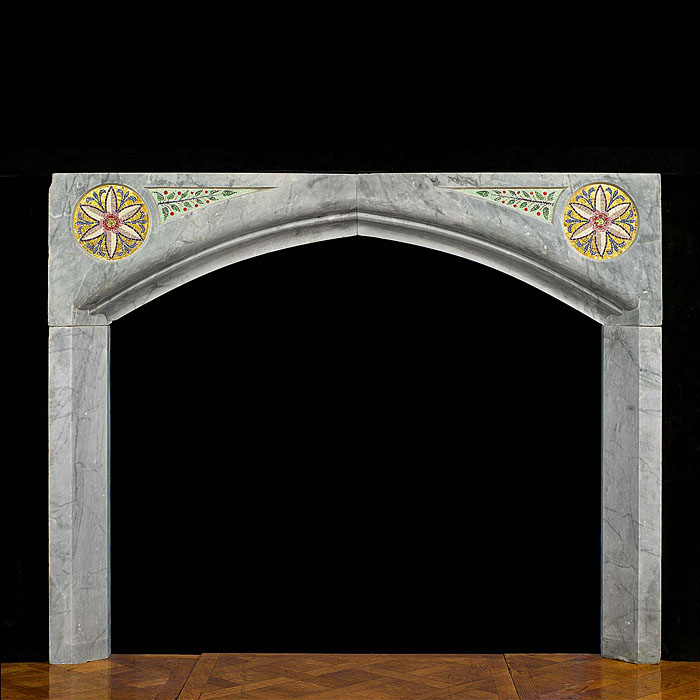 An Antique Arts & Crafts Marble Fireplace Surround