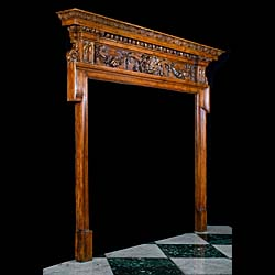 A 19th Century Antique Pine Fireplace Surround