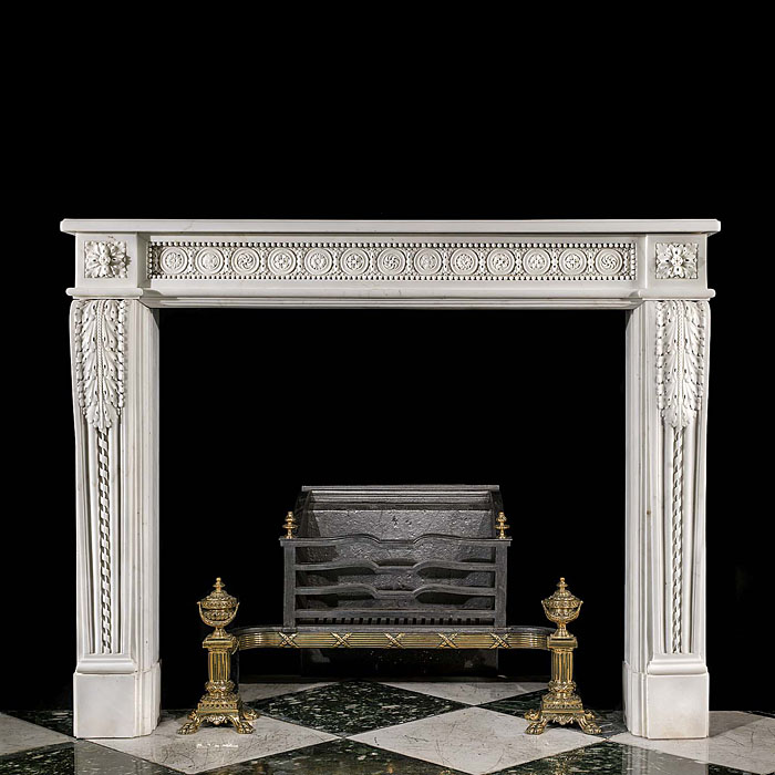 A French Statuary Marble Fireplace Surround