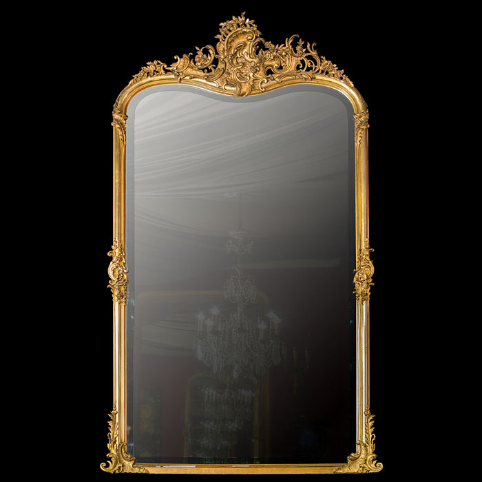 A Rococo Style Giltwood Overmantel Mirror