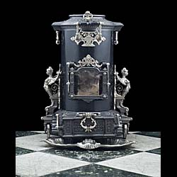 A 19th century antique French Wood Burning Stove