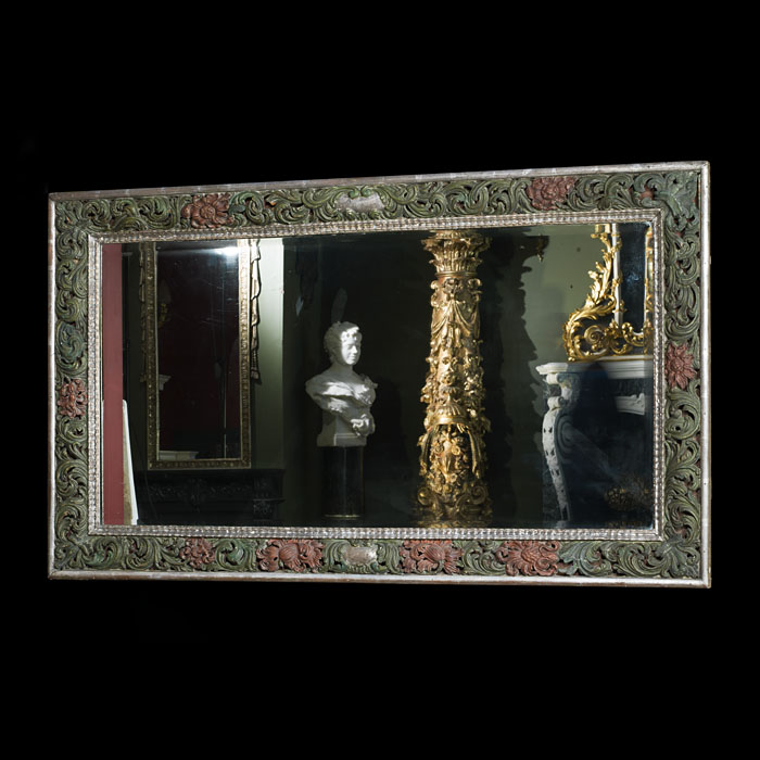 An Carved & Painted Spanish Wall Mirror