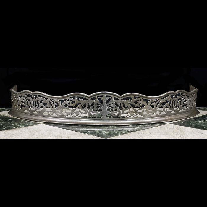 A George III Engraved Steel Fireplace Fender