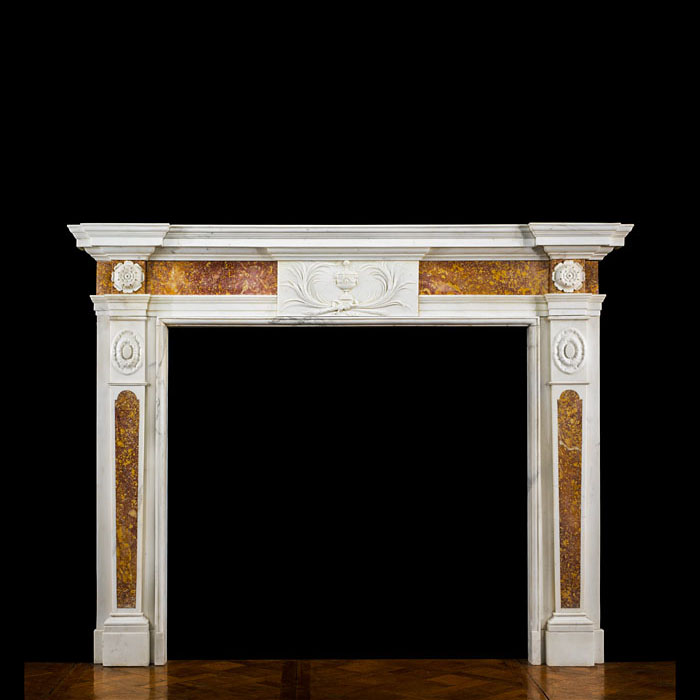 A Very Fine 18th century Statuary & Spanish Brocatelle Marble Antique Chimneypiece