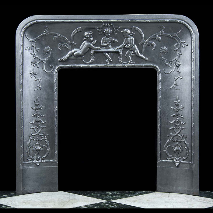 A small French antique Fireplace Insert