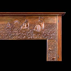 A repousse copper antique Fireplace Surround attributed to John Pearson