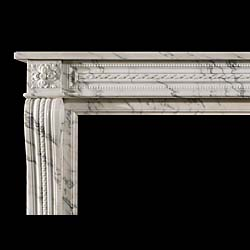 An Antique Louis XVI Statuary Marble Cheminee Fireplace Surround