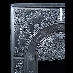 A rare cast iron Antique Stove Front designed by Thomas Jeckyll