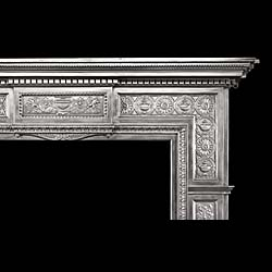 A fine large Georgian style cast iron Chimneypiece