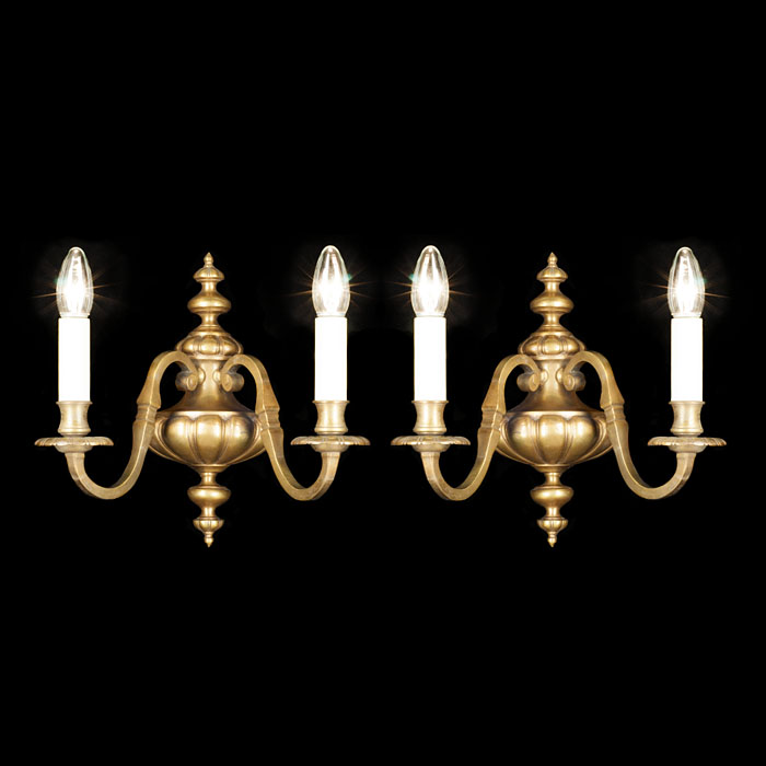 A set of four Louis XVI style wall lights