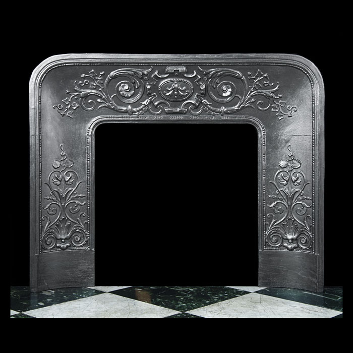 A Louis XV style cast iron Antique Fireplace insert