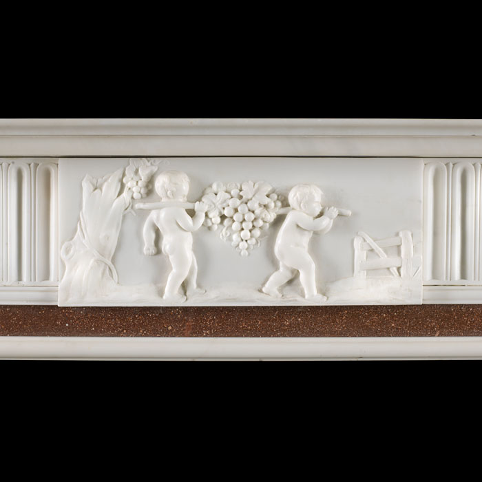 An early 20th century Georgian style marble Fireplace Surround