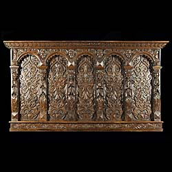 A Finely Carved Oak Jacobean Overmantel