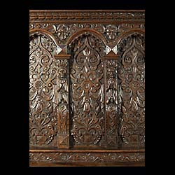A large and finely carved antique Jacobean overmantel