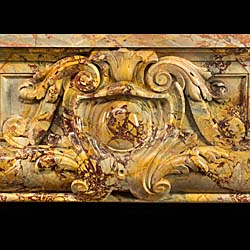 A majestic Antique fireplace in Sarrancolin Opera Marble