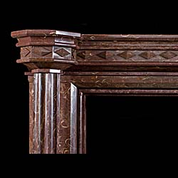 An early 19th century Armagh Marble Gothic Revival Fossil Chimneypiece