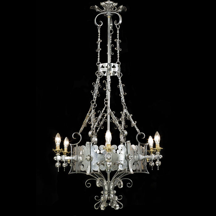A Superb Cut Steel Gothic Revival Chandelier