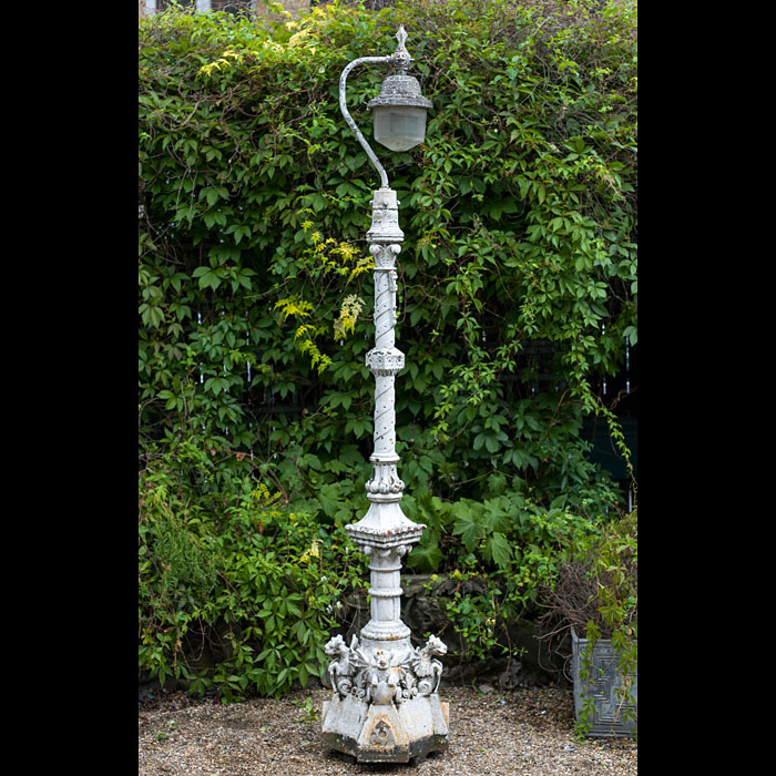 A Victorian cast iron seaside lamp post